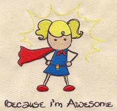 Stitch this pint-sized superhero on pajamas or T-shirts or wherever else you like. Because you're awesome, that's why.