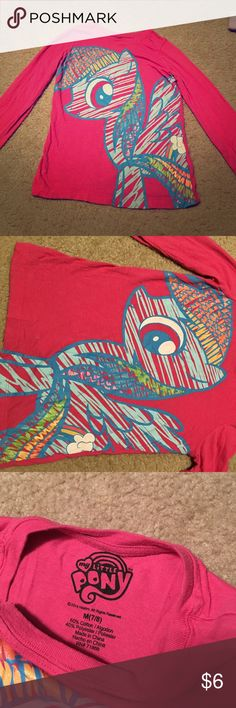 My little pony shirt My little pony pink shirt from children's place My Little Pony Shirts & Tops Tees - Long Sleeve