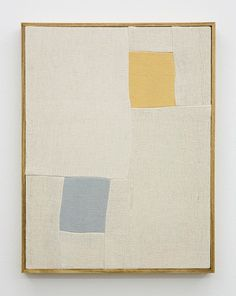 Ethan Cook - Untitled, Hand woven cotton canvas in artists frame, 2013