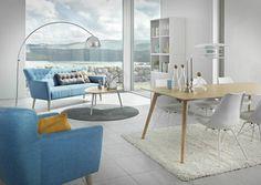 Framtiden: Det mener Living om sine møbler med klar inspirasjon til 50-tallet, siden de har kalt dem Future. Treseter til 6995 kr.