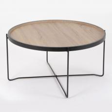 Table basse ronde bois et métal 74 cm :: Maginea mobile