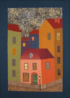 """""""The Green Door of George Melies"""" art quilt by Hedda Wright. Cover to Cover Book Club Quilters."""
