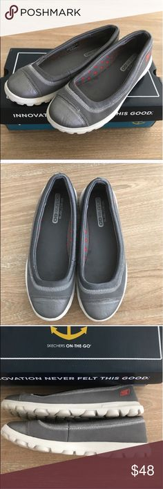 SKECHERS ON THE GO MEMORY FOAM FLATS 💗Condition: Excellent used condition, as pictured, no rips or holes. No scuffs. No stains on white area of the shoe. Used a handful of times.Memory foam inside very comfy, soft and light. Will send in box. Were cleaned, dont have inside any smell. 💗No trades, No returns. No modeling  💗 If you want to resell the item, yes, you are allowed to use my photos. 💗ALL ITEMS ARE OWNED BY ME. NOT FROM THRIFT STORES 💗All transactions video recorded to ensure…