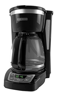 BLACKDECKER CM1160B 12 Cup Programmable Coffee Maker Digital Control Programmable Coffee Maker BlackStainless Steel * To view further for this item, visit the affiliate link Amazon.com.