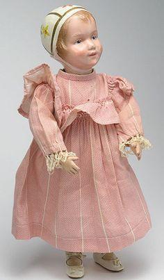 Lovely Antique Schoenhut Bonnet Doll