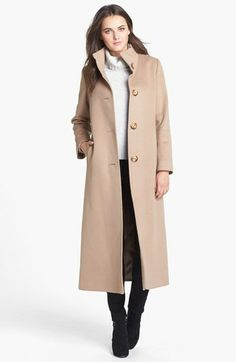 Fleurette Stand Collar Cashmere Coat available at #Nordstrom