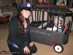 Police Officer and Inmate Costume (Pair).