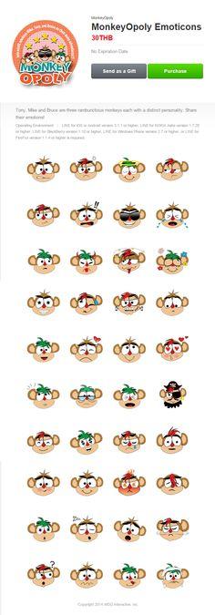 MonkeyOpoly set III's detail