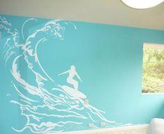 surfer room basement   Surf teen room - eclectic - kids - other metro - by Lucky de Ruiz