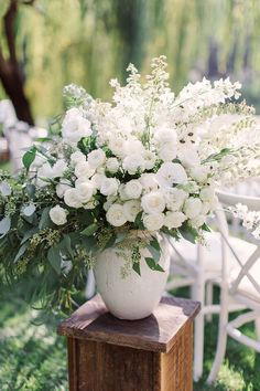 wedding ceremony flower arrangements wedding flowers - Page 28 of 101 - Wedding Flowers & Bouquet Ideas White Floral Arrangements, Wedding Arrangements, Wedding Centerpieces, Wedding Decorations, Flowers Arrangements For Table, Quinceanera Centerpieces, Rustic Centerpieces, Flower Centerpieces, White Wedding Flowers