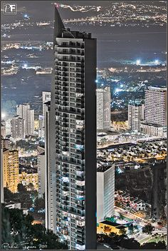 Torre Lúgano, is a residential building in Benidorm, Alicante, Spain;  2008;  by Pedro Ferrer
