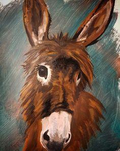 donkey acryl painting