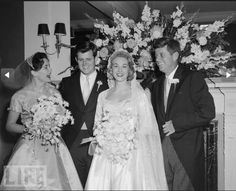 Ted Kennedy wedding, 1958.