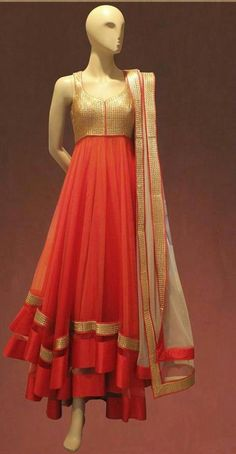 Bollywood Designer #Anarkali salwar suit - get rid of the dupata and you have a modern, American, Indian-inspired dress.