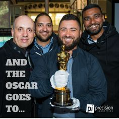 Pi picked an Oscar Award at ISE in Amsterdam. Pity we couldn't bring him home. #precisionindustries #oscars #ISE2016