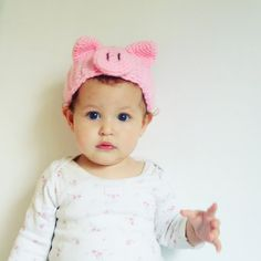 Pig Halloween Costume Crochet Pattern Headband PDF