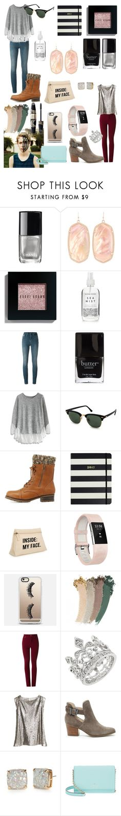 """""""Lila Blue"""" by ehodgson2001 ❤ liked on Polyvore featuring Chanel, Kendra Scott, Bobbi Brown Cosmetics, Herbivore, Calvin Klein Jeans, Butter London, Chicwish, Ray-Ban, Charlotte Russe and Kate Spade"""
