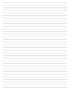 Free Printable Lined Paper {Handwriting Paper Template - Everything About Kindergarten Lined Handwriting Paper, Handwriting Practice Paper, Handwriting Sheets, Lined Writing Paper, Learn Handwriting, Improve Your Handwriting, Hand Writing, Printable Lined Paper, Kindergarten Writing