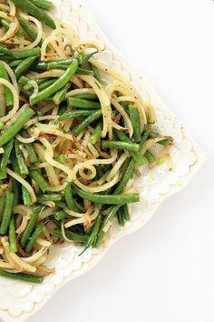 Potato Noodle and Green Bean Salad with Chive-Dijon Vinaigrette