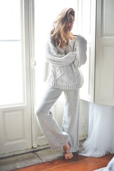 Cozy Monochromatic LoungeWear