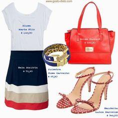 Como usar bolsa vermelha - Uma bolsa = 4 looks
