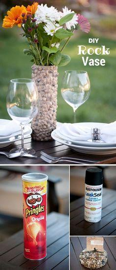 Make an easy DIY decorative rock vase @istandarddesign