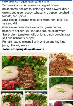 Alkaline Diet: The Answer to Longevity and Fighting Chronic Disease? Alkaline Diet Recipes, Raw Food Recipes, Veggie Recipes, Vegetarian Recipes, Healthy Recipes, Salad Recipes, Vegan Foods, Vegan Dishes, Vegan Meals