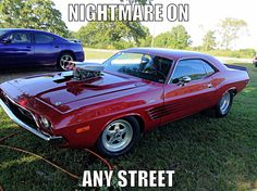 1972 Challenger R/T with a blown 440. Pro Street. 'Nightmare On Any Street'
