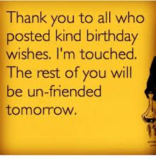 Image result for thank you everybody for birthday wishes