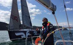 @ cenktekkaya sailing on a beautiful day!  Helly Hansen style on the beautiful ocean!