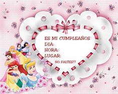 Tarjetas de cumpleaños de princesas Disney