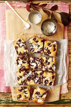 Buttermilk-Glazed Cherry Sheet Cake