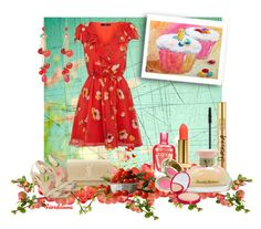Red Cherries by fiordiluna on Polyvore featuring moda, Yves Saint Laurent, Bourjois, Tommy Bahama, Versus and Zoya