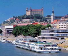 Bratislava was called Pressburg. It is the capital city of Slovakia. Great Places, Places To See, Places Ive Been, Beautiful Places, Destinations, Bratislava Slovakia, Heart Of Europe, Danube River, By Train