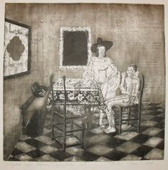 Etching works by Timea Mitroi, via Behance Artworks, Behance, Illustrations, Drawings, Painting, Illustration, Painting Art, Sketches, Paintings