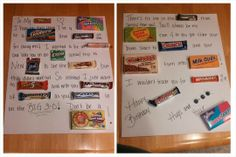 Hubby's Birthday Story with Candy Bars :)