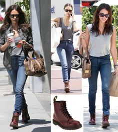 89ac7991d1e2 Jessica Alba wears Doc Martens boots in These british boots are still  trendy since Now they are worn by men and women.