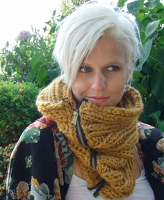 Only $45 at Knit Nat! http://www.etsy.com/listing/83402209/mustard-zipper-harvest-cowel-hand-knit