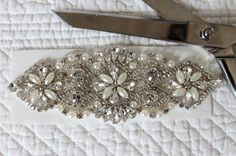 Cut a piece of iron-on adhesive paper. Diy Wedding Sash, Bridal Sash, Wedding Crafts, Wedding Dresses, Wedding Ideas, Wedding Stuff, Wedding Decorations, Classic Romantic Wedding, Romantic Weddings
