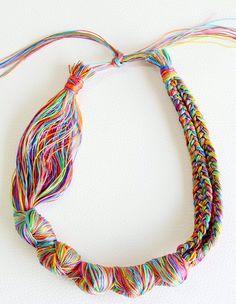 DIY Embroidery Thread Necklace