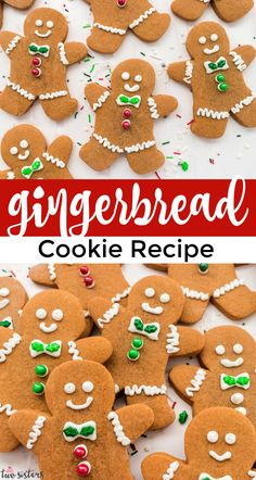 This Gingerbread Cookie recipe is amazing. The Gingerbread Men Cookies are soft enough to eat but sturdy enough to decorate. And the gingerbread flavor is the perfect ratio of ginger and molasses - sweet and spicy and delicious. Pin this Christmas Cookie recipe for later and follow us for more yummy Christmas Dessert Ideas. Christmas Appetizers, Christmas Desserts, Christmas Treats, Christmas Baking, Christmas Cookies, Christmas Recipes, Christmas Decor, Merry Christmas, Ginger Bread Cookies Recipe