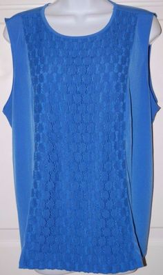 George Shirt Womens 2X Polyester Tank Top Blue Sz 20 XXL #George #Blouse #Casual
