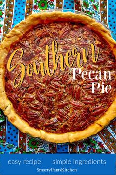 Make this traditional Southern Pecan Pie this Thanksgiving! Easy Pecan Pie recipe - perfect for beginners! Holiday Meals, Holiday Recipes, Dinner Recipes, Easy Recipes For Beginners, Cooking For Beginners, Southern Pecan Pie, Southern Recipes, Fun Food, Good Food