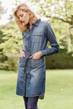 The perfect wardrobe staple from winter to spring is this gorgeous denim dress from Next.