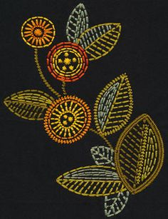 Sun Blooms Vine from the BERNINA Exclusive Embroidery Collection – Sun Blooms #21017