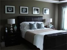 Glamorous Interiors: Light blue & Chocolatey Bedrooms