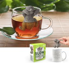 SLOW BREW - SLOTH TEA INFUSER please oh please oh please I need this in my life!!!!!