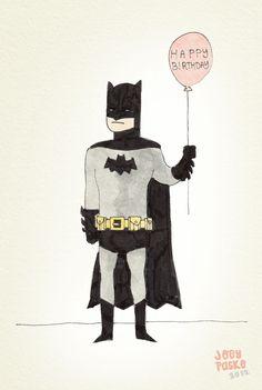 Happy Birthday, Love Batman ok Batman Birthday Meme, Happy Birthday Sister, Happy Birthday Messages, Happy Birthday Funny, Happy Birthday Quotes, Happy Birthday Images, Happy Birthday Greetings, Funny Birthday Cards, Birthday Wishes