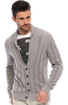 Drop Needle Tape Cardigan - Sweaters - Mens - Armani Exchange