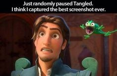 "Tangled. One of my favourite movies... ""EVER!"" (Do you get it all of you Tagled lovers? Repunzel says ""Best day EVER!"" Haha )"